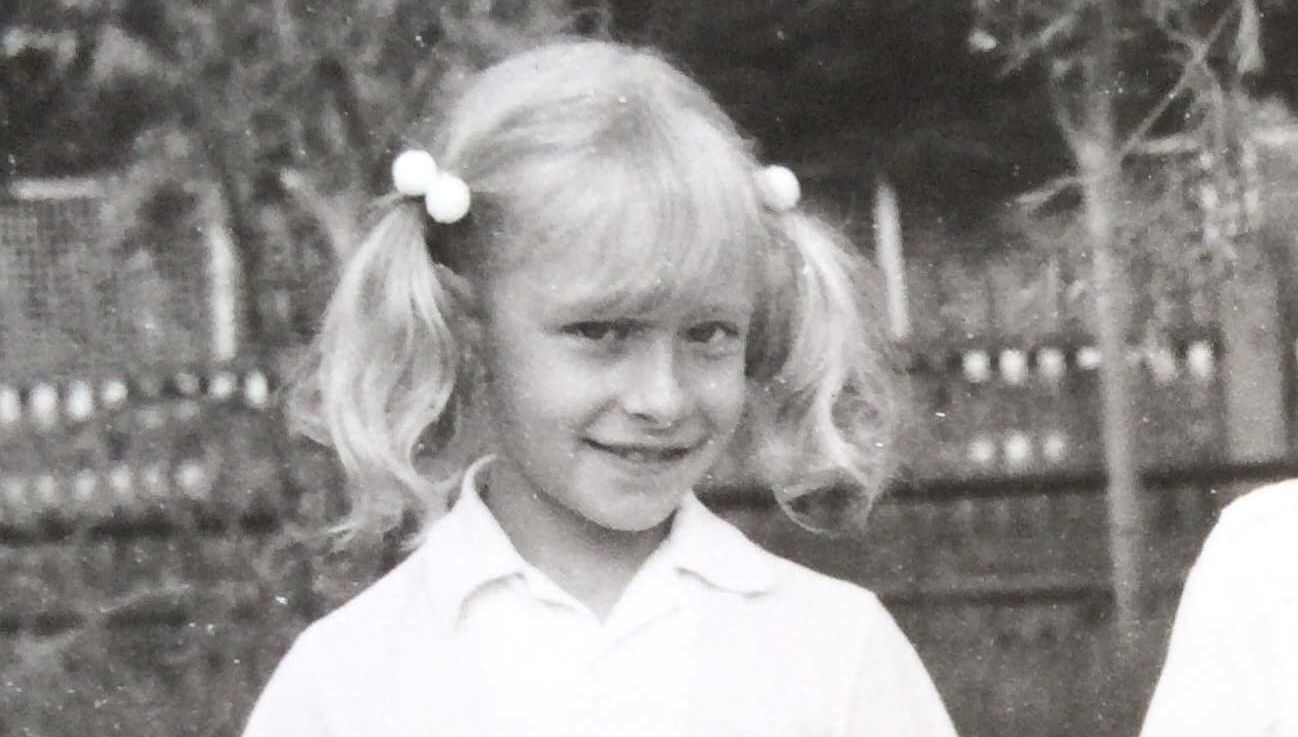 Елена Кравец в школе