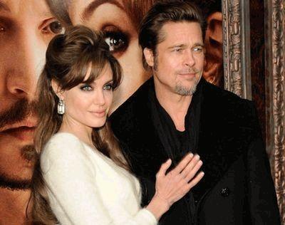 Анджелина Джоли и Брэд Питт на премьере Туриста