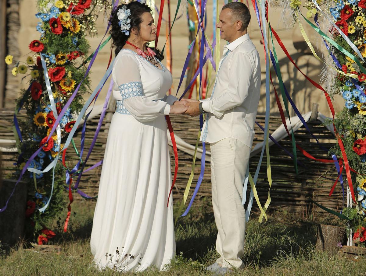 Свадебные фотографии похудевшей Русланы Писанки