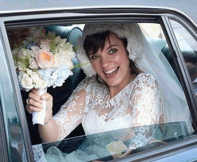 Лили Аллен в день свадьбы