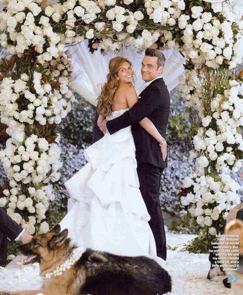 Робби Уильямс с женой свадьба