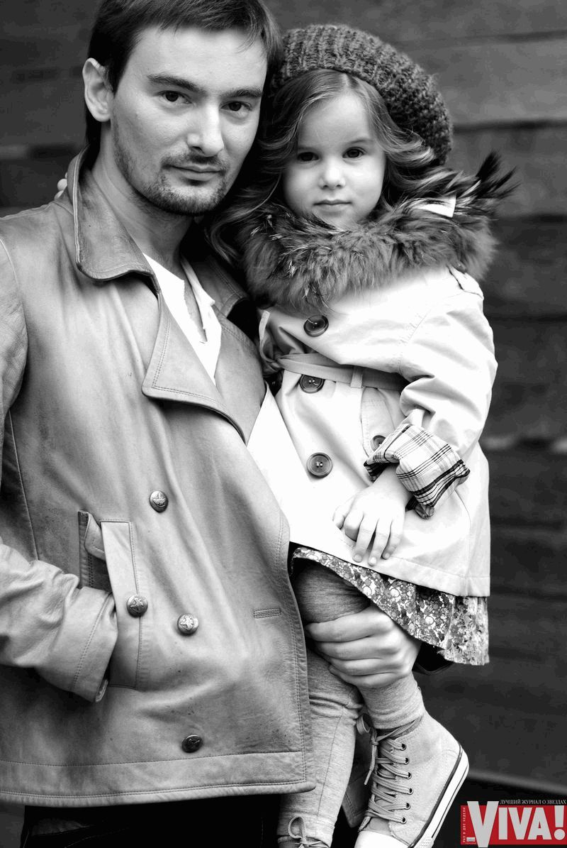 Алан Бадоев с дочерью