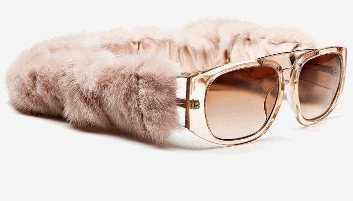 очки с мехом