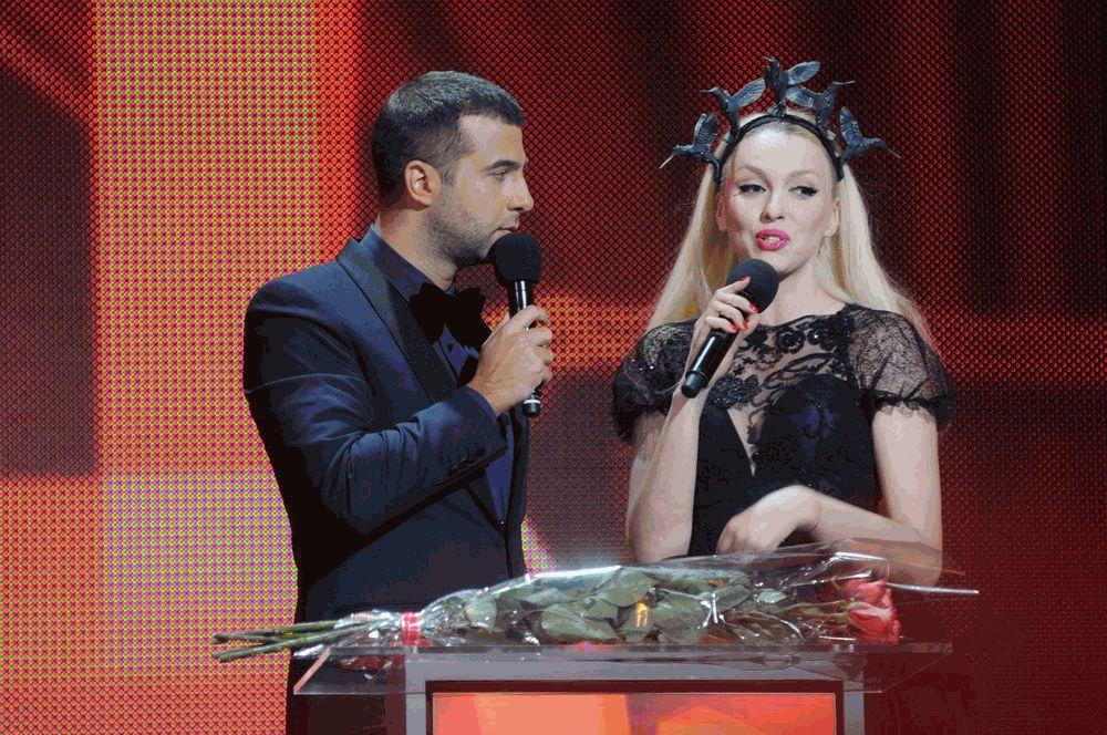 Иван Ургант и Оля Полякова