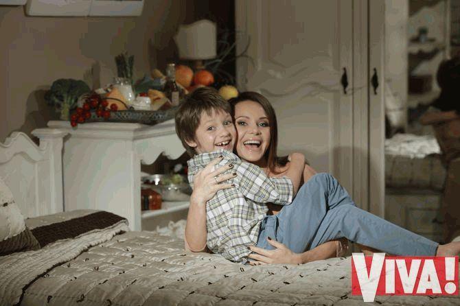 Лилия Подкопаева с сыном