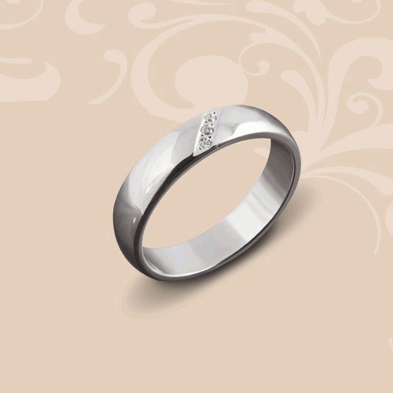 Кольцо обручальное из белого золота. Хочу