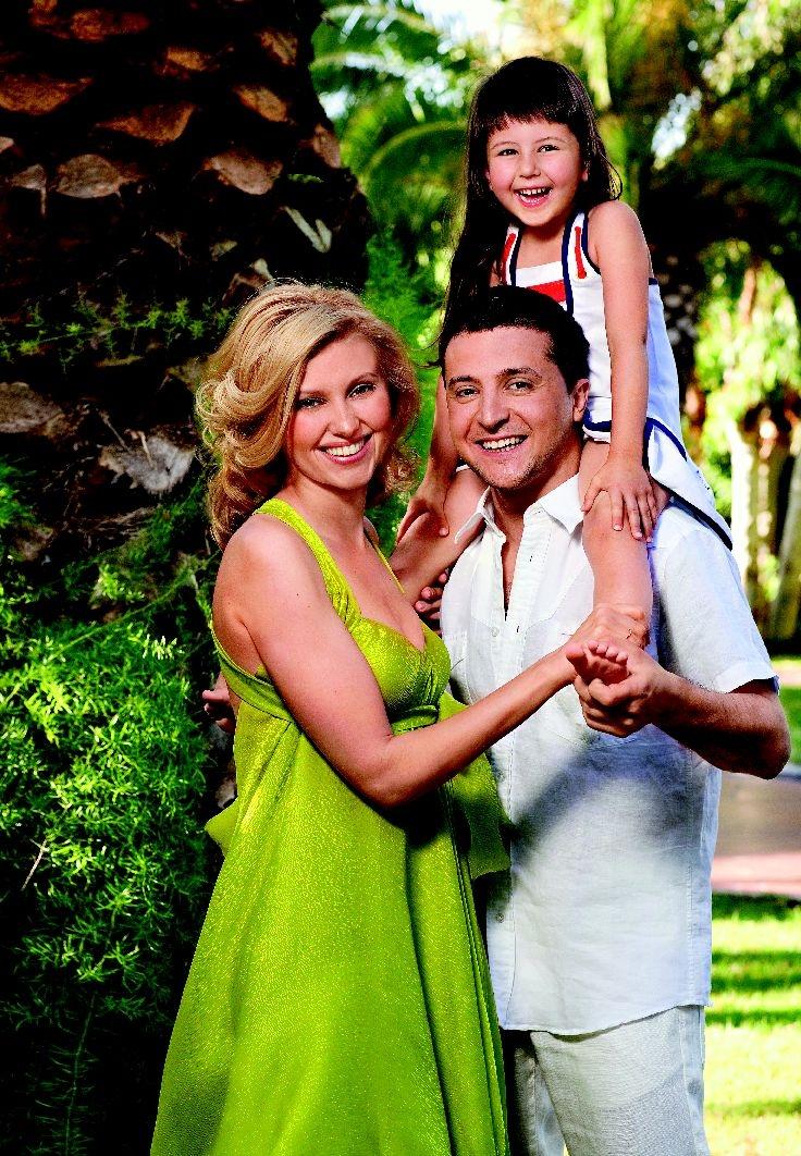 владимир зеленский жена дочь семья фото