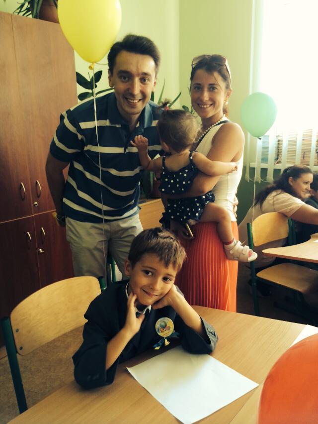Михаил Присяжнюк с семьей