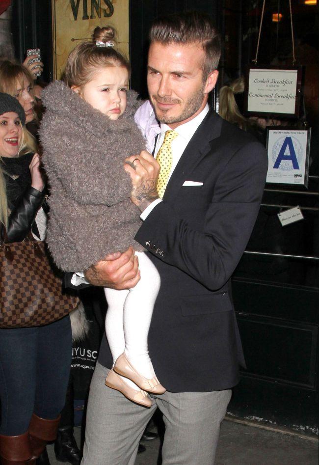 Трехлетняя дочь Дэвида Бекхэма считает его толстым!
