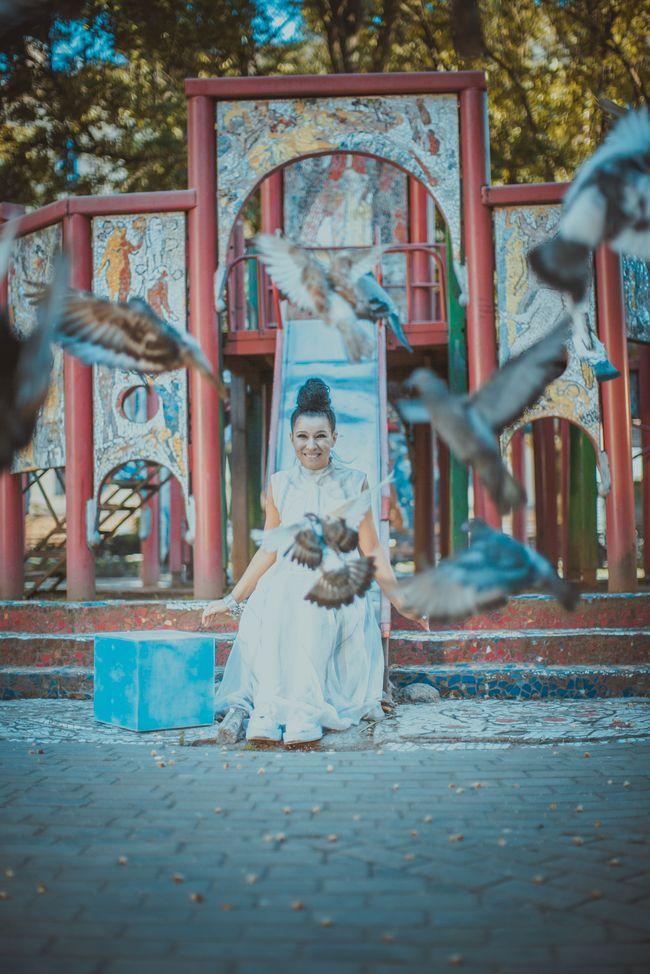 Елка на съемках клипа «Нарисуй мне небо»