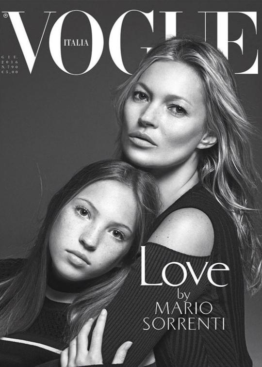 Кейт Мосс с 13-летней дочерью снялась для обложки Vogue
