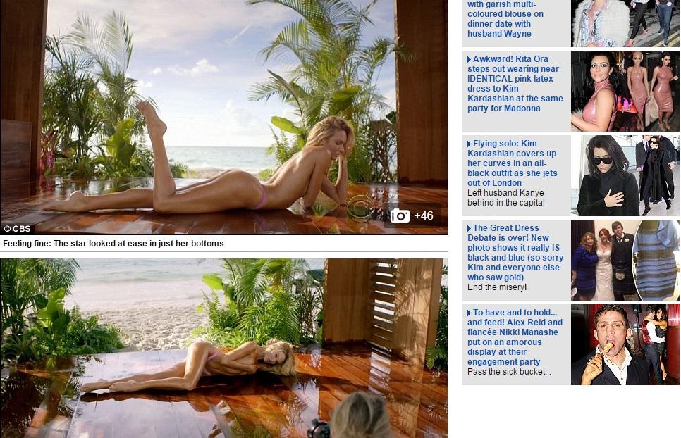Сексуальная Кэндис Свейнпол снялась топлес для Victoria's Secret