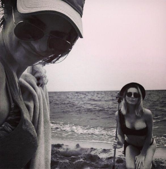 Светлана Лобода на пляже