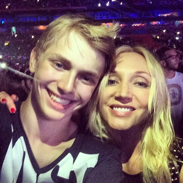 Кристина Орбакайте и ее сын Дени Байсаров