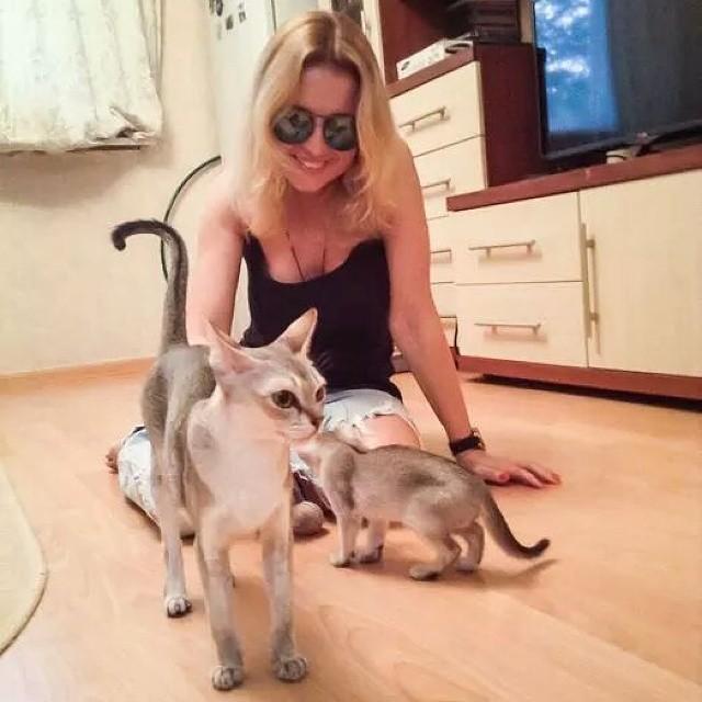 Анжелика Варуми завела кота