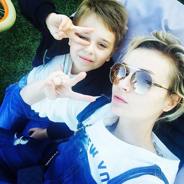 Полина Гагарина и ее сын Андрей