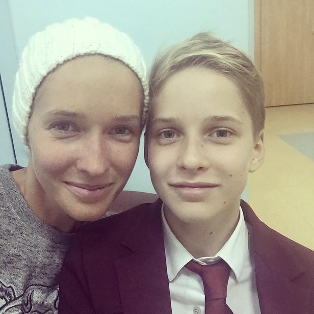 Катя Осадчая и ее сын Илья