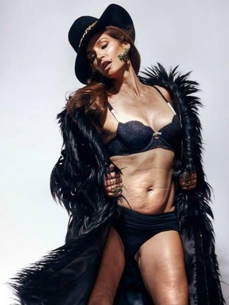 Как выглядит 48-летняя Синди Кроуфорд без фотошопа?