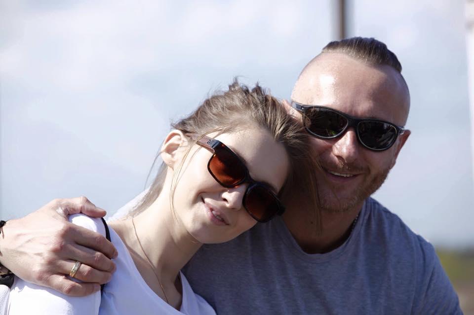 Ларсон и его жена Марина
