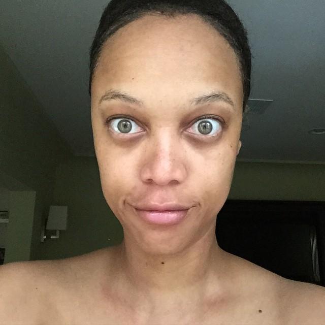 41-летняя супермодель Тайра Бэнкс без макияжа