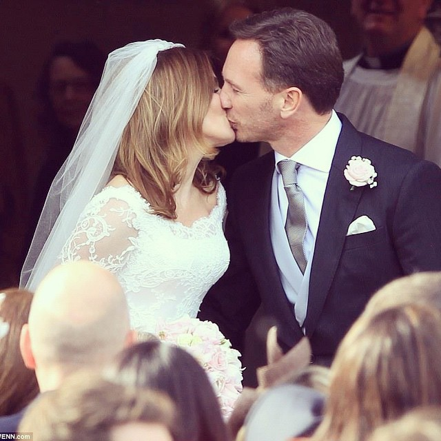 Свадьба: Джери Холлиуэл и Кристиан Хорнер
