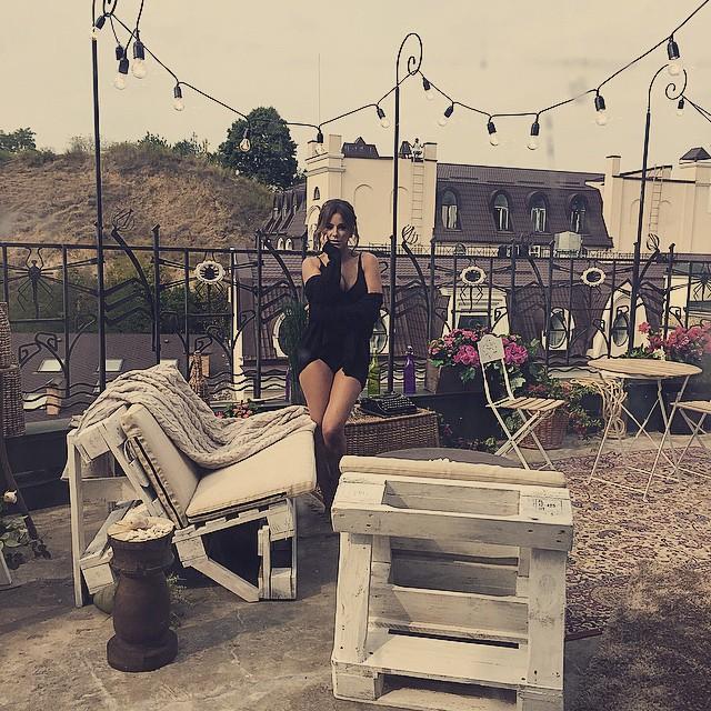 Ани Лорак на съемках нового клипа