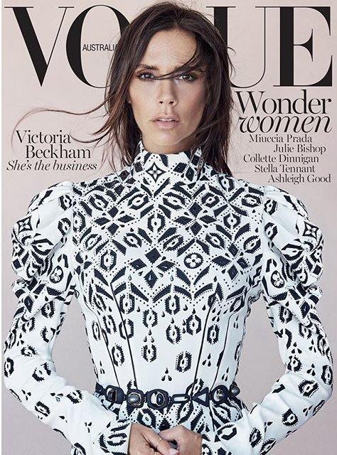 Непревзойденная Виктория Бекхэм блистает на обложке Vogue