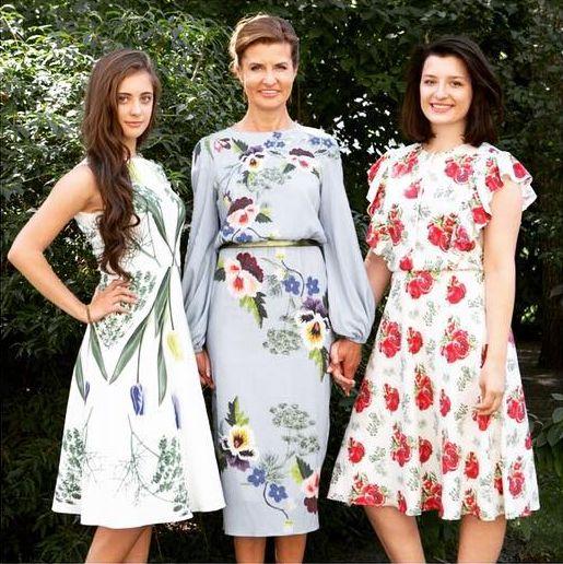 Марина Порошенко вышла в свет в платье с принтом-укропом