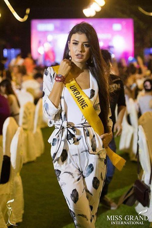Королева Украины 2017 Снежана Танчук на конкурсе Miss Grand International 2017