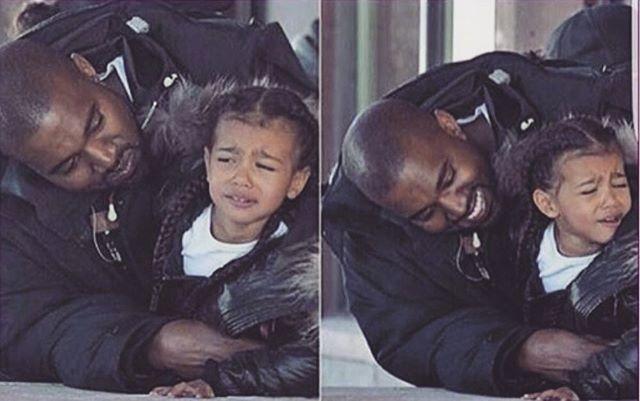 Надоедливый папа: Ким Кардашьян поделилась забавным снимком Канье Уэста с дочерью