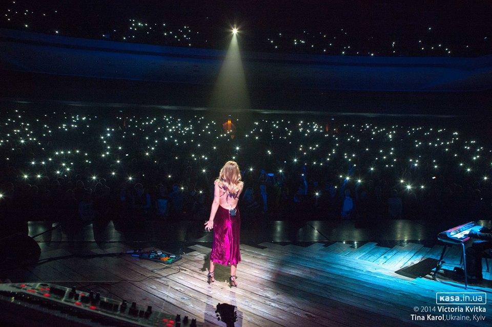 Тина Кароль на концерте