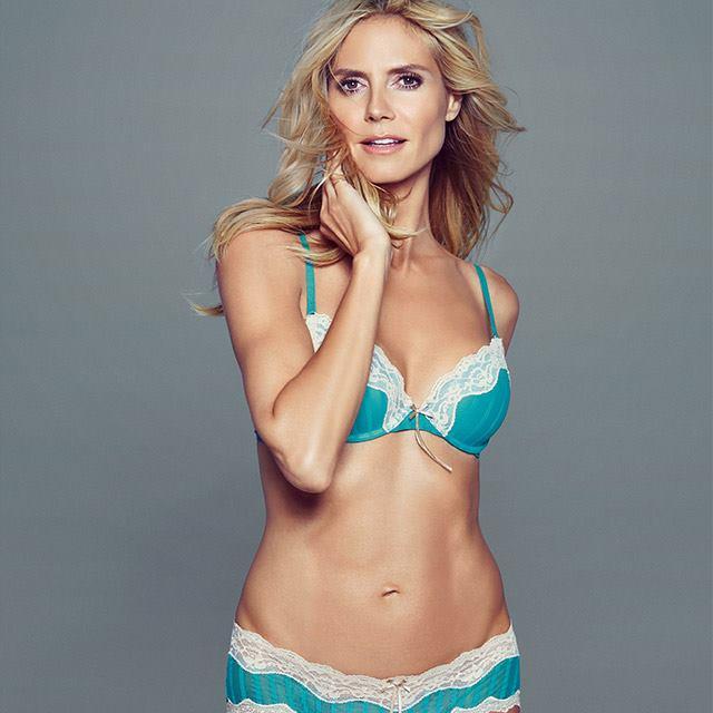42-летняя Хайди Клум продемонстрировала идеальную фигуру в сексуальном нижнем белье