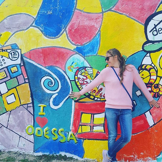 Катя Осадчая встретила весну в Одессе