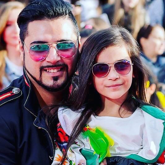 Александр Бередников с дочерью Миланой
