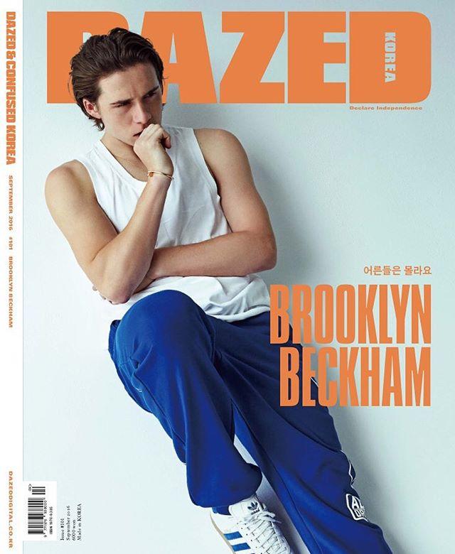 Мужественный и сексуальный Бруклин Бекхэм блистает на обложке глянца