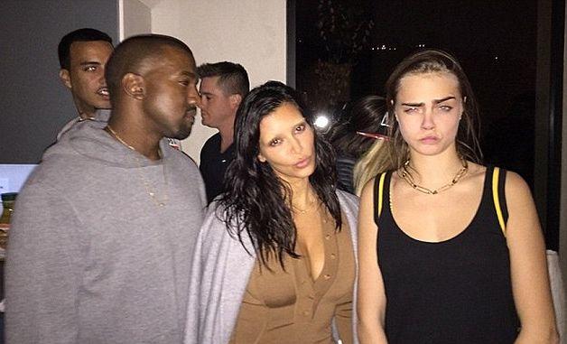 Ким Кардашьян шокировала отсутствием бровей