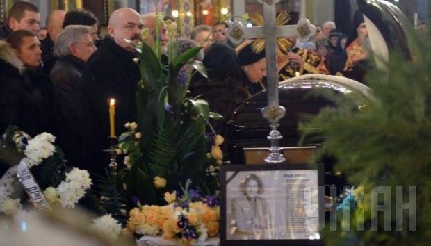 прощание с Кузьмой Скрябиным в Преображенской церкви во Львове