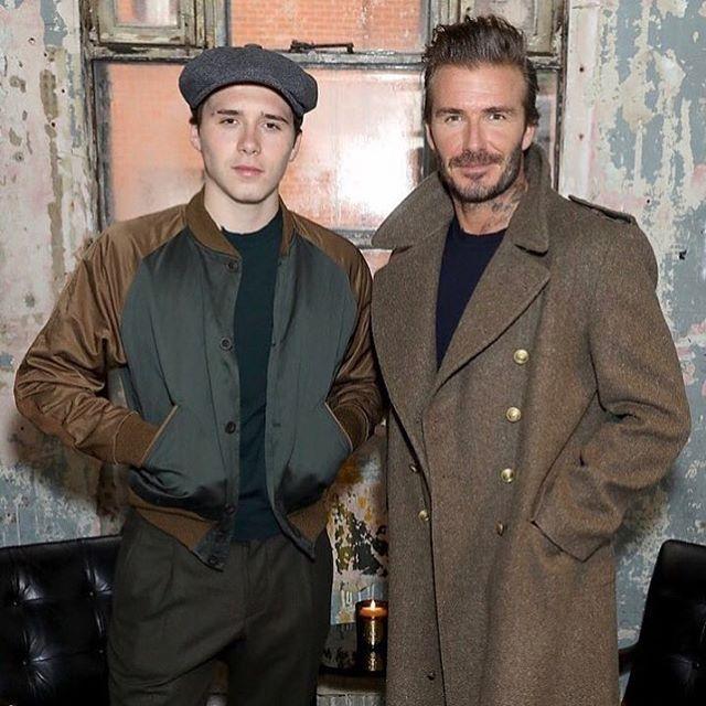 Красавцы-мужчины: Бруклин Бекхэм опубликовал стильное фото с отцом
