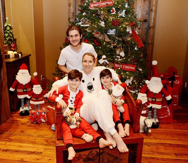 Редкий кадр: Селин Дион опубликовала рождественское фото с детьми