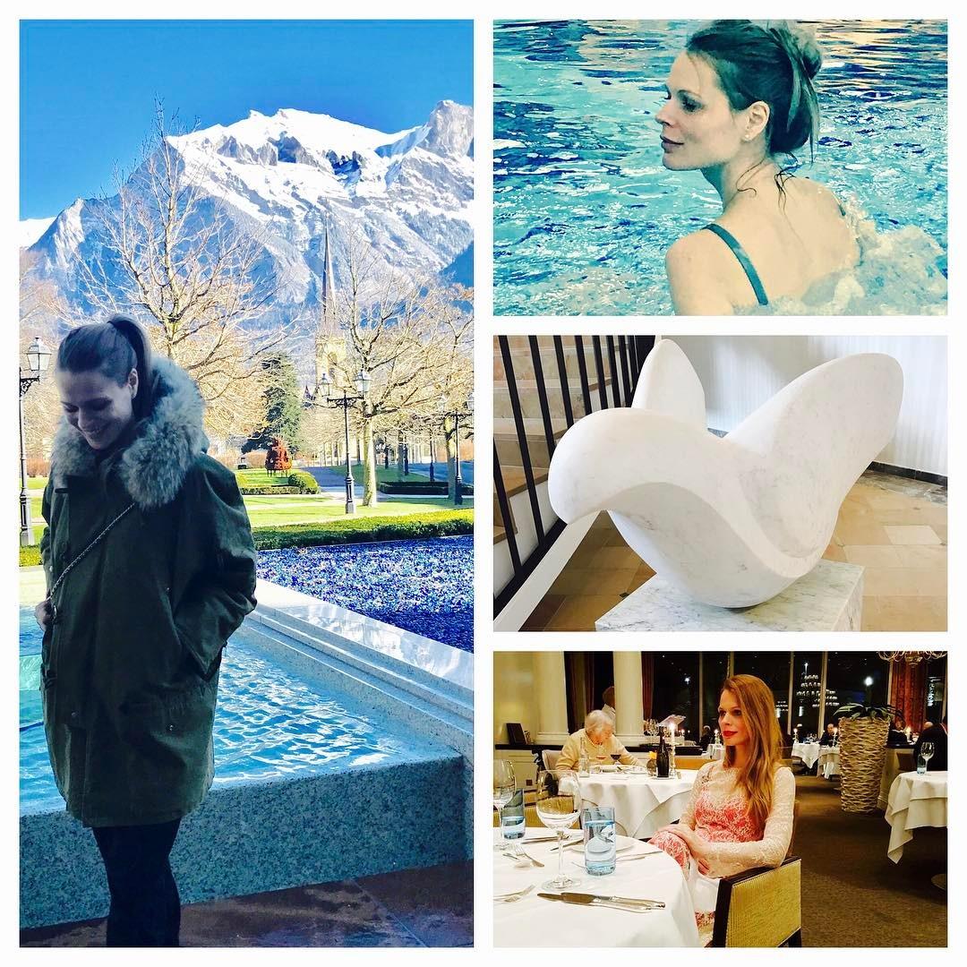 Беременная Ольга Фреймут с шиком отдохнула в Швейцарии