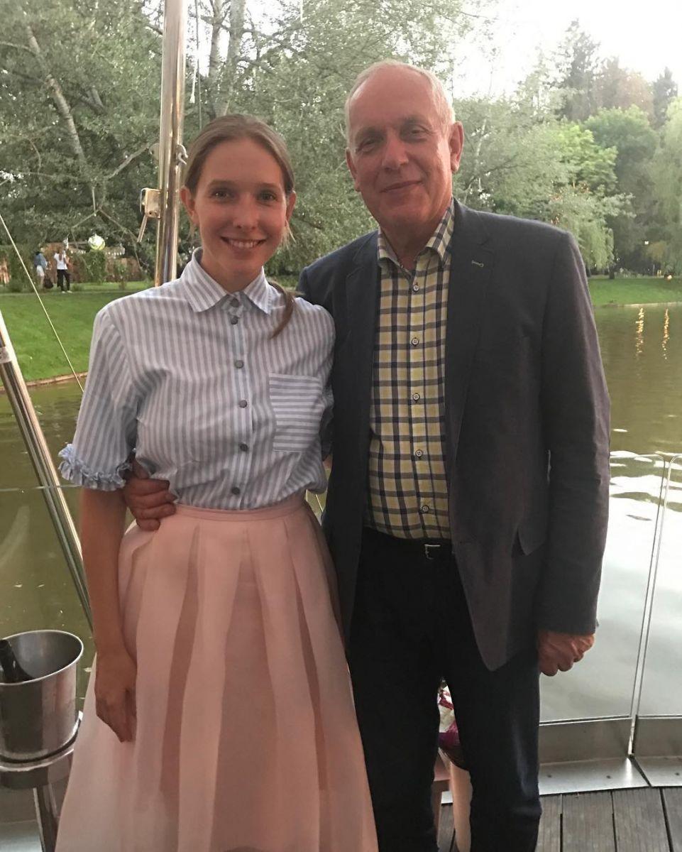Катя Осадчая с папой