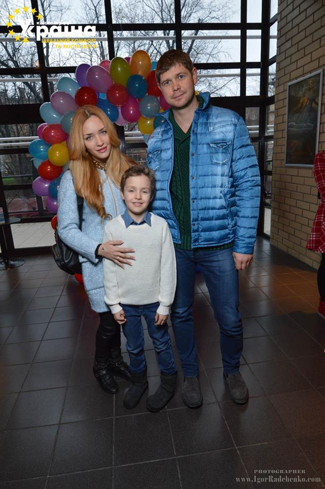 Виктория Чекурда с мужем Тарасом и сыном Сашей