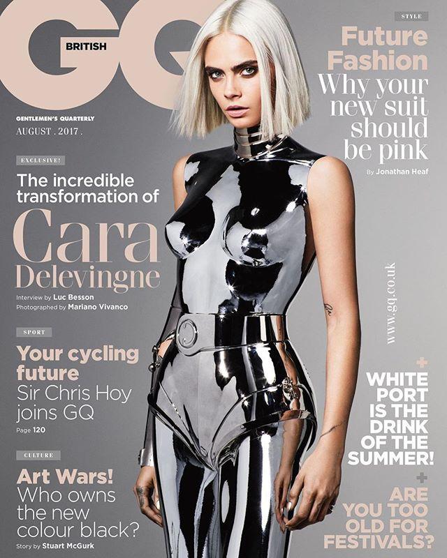 Сексуальный робот: Кара Делевинь в железном костюме блистает на обложке GQ
