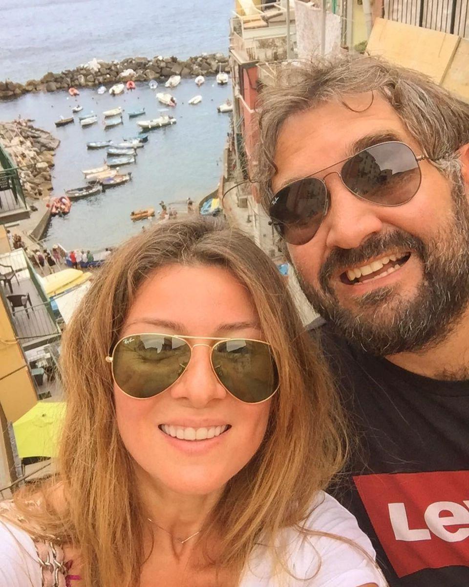 Жанна Бадоева на отдыхе с мужем