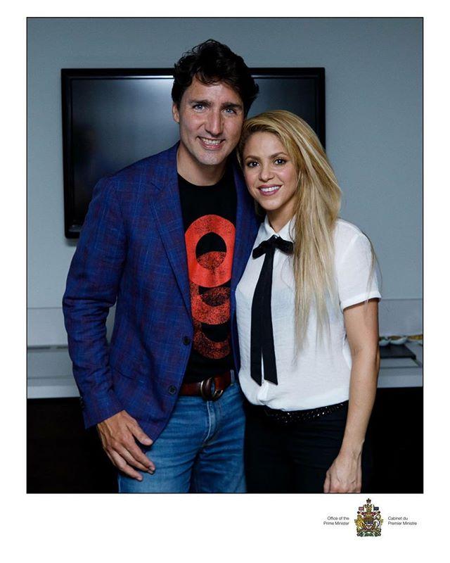 Шакира встретилась с Джастином Трюдо: о чем говорила певица с премьер-министром Канады?
