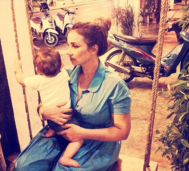 Анфиса Чехова с сыном