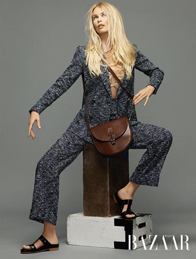 Кукольная красота: Клаудия Шиффер снялась для российского Harper's Bazaar