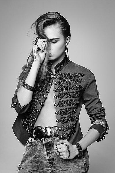 Кара Делевинь блистает в стильной фотосессии для глянца
