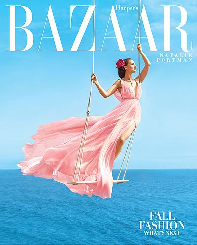 Нежный цветок: элегантная Натали Портман блистает на обложке Harper's Bazaar