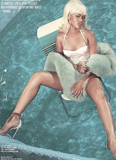 Сексуальная блондинка Рианна обескуражила ярким образом в новой фотосессии